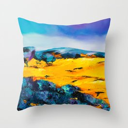 Provencal countryside Throw Pillow