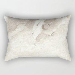 Clear Quartz Crystal Watercolor Rectangular Pillow