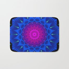 mandalas blue and violet -6- Bath Mat