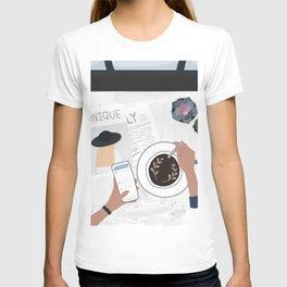 A quiet morning T-shirt