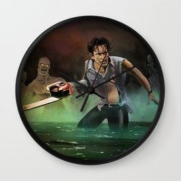Ash in the Darkness Wall Clock
