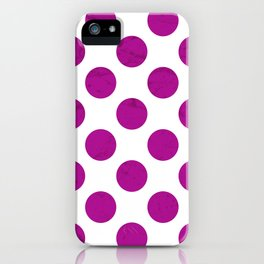 Fuchsia Polka Dot iPhone Case