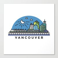 vancouver Canvas Prints featuring Vancouver by Campbell Graphix