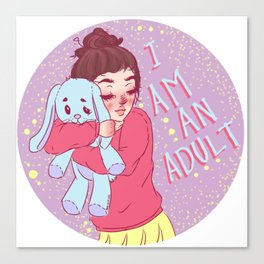 I am an adult. by Ane Teruel Canvas Print