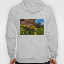 Yellow Flowers - Red Barn Hoody