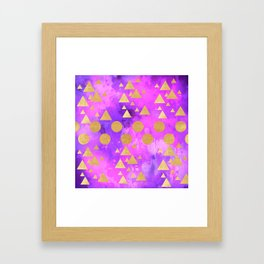 Gold forest Framed Art Print