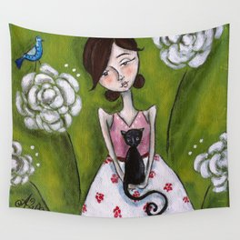 Cat Lady Wall Tapestry