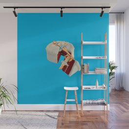 piece of cake blue Wall Mural
