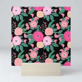 Stylish abstract creative floral paint Mini Art Print