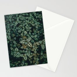 green leaf background Stationery Cards