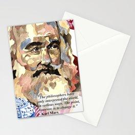 Karl Marx Portrait Stationery Cards