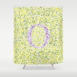 """""""O"""" Eye Test Full Shower Curtain"""