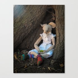 Miss Mouse under the Oak Tree Canvas Print