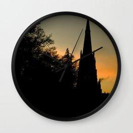 Clumber sunset Wall Clock