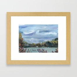 Overcast Lake Framed Art Print