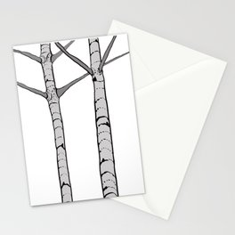 Poplar Tree Illustrated Print Stationery Cards