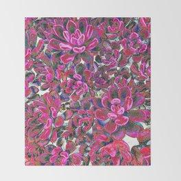 Floral tribute [red velvet] Throw Blanket