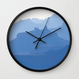 Grand Canyon blue ridges Wall Clock