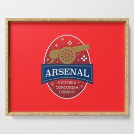 North London Red Football Serving Tray