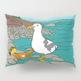 Crabarita & Gerry the Seagull from Flock of Gerrys Gerry Loves Tacos by Seasons Kaz Sparks Pillow Sham
