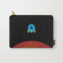 Little Blue Rocket Ship Carry-All Pouch