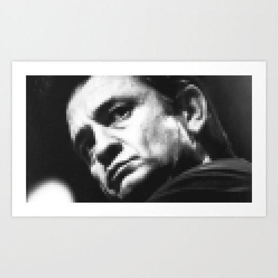 8-bit Johnny Cash Art Print