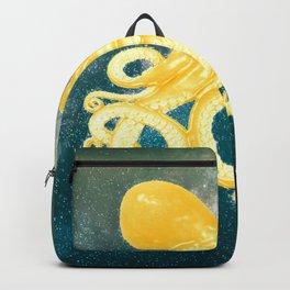 golden octopus art Backpack