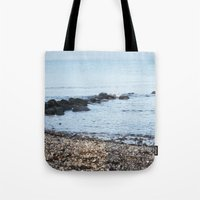 denmark Tote Bags featuring Denmark Beach by Kayleigh Rappaport