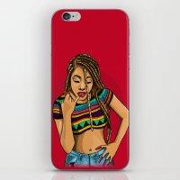mcfreshcreates iPhone & iPod Skins featuring Hoochie Mama by McfreshCreates