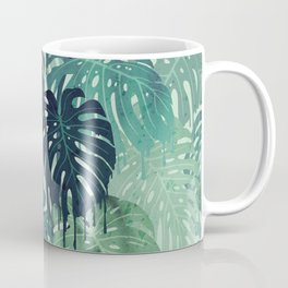 Monstera Melt (in Green) Coffee Mug