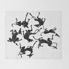 greyhound yoga Throw Blanket