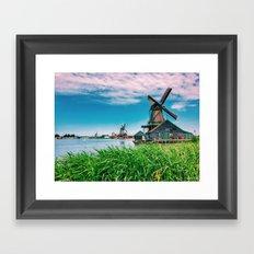 amazing windmills  Framed Art Print
