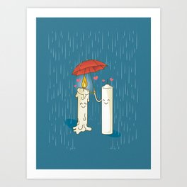 LOVE CANDLES Art Print