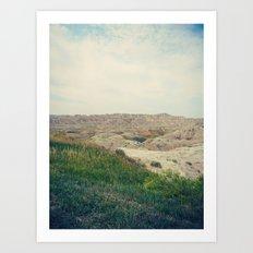 The Badlands / South Dakota Art Print