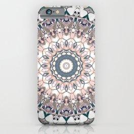 Pastel Boho Chic Mandala Design iPhone Case