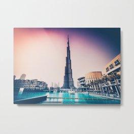 Burj Khalifa, UAE Metal Print