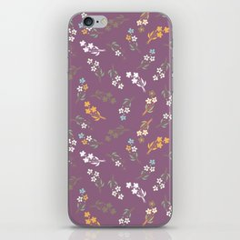 Tossed Wildflowers in Purple iPhone Skin