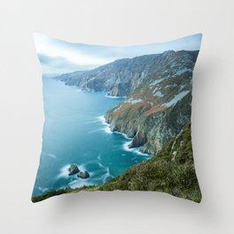 Sea Cliffs of Slieve League Throw Pillow