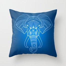 Serious Elephant Two Throw Pillow
