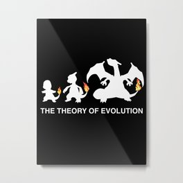 The Theory of Evolution  Metal Print