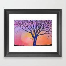 Sunset Tree Framed Art Print