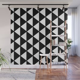 Black And White Triangles Pattern Wall Mural