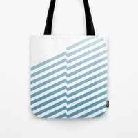 bands Tote Bags featuring Blue Bands by blacknote