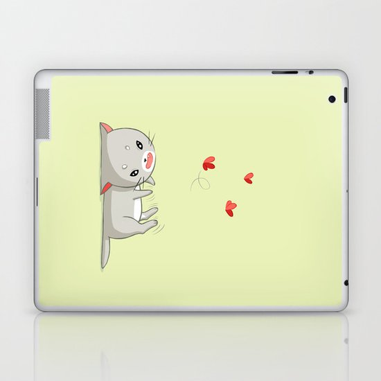 Playing Kitten Laptop & iPad Skin