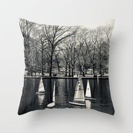 Kerbs Boathouse NYC Throw Pillow