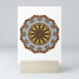 Colors of Rust, mandala 03 Mini Art Print