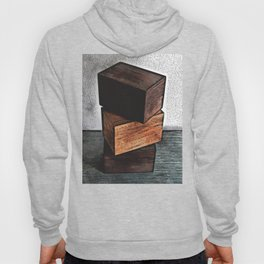 Three Wooden Boxes On Dresser Hoody