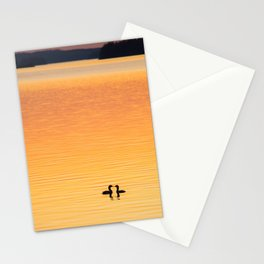 Summer Evening by The Lake at Sunset Landscape #decor #society6 #buyart Stationery Cards