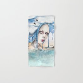 Indra - Watercolour weather portrait painting Hand & Bath Towel