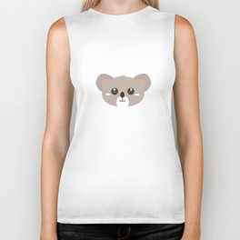 Cute friendly Koala head Biker Tank